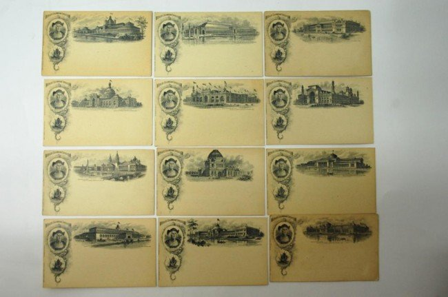 14: 1893 Columbia Exposition Post Card Set