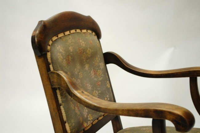 61: Antique Upholstered Rocking Chair - 2