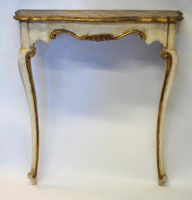 123: Italian Carved Gilt Console Table