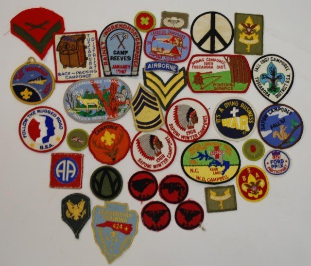 15A: 1960s Boy Scout & Military Patches