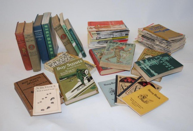 4: Large Collection vintage Boy Scouts Books Pamphlet