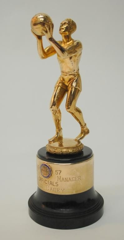 8: 1957 Dixie Classic Tournament  Manager Trophy