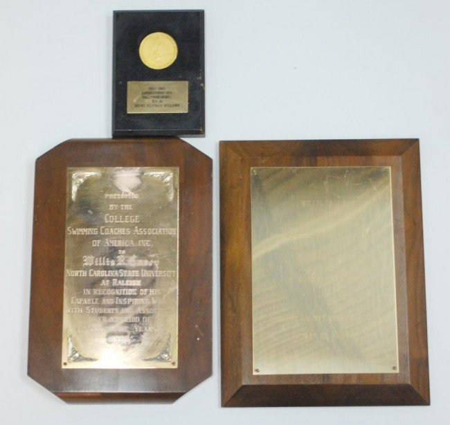 14: 3 Plaques awarded to Willis R. Casey