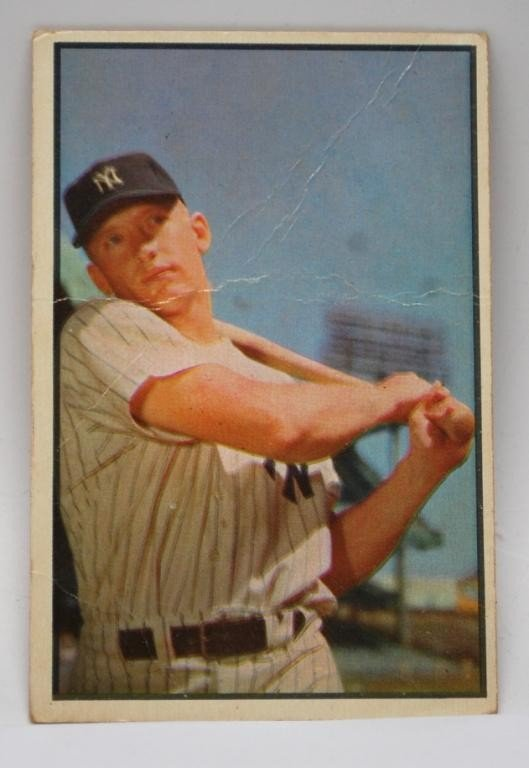 1: 1953 Mickey Mantle Bowman # 59 Baseball Card