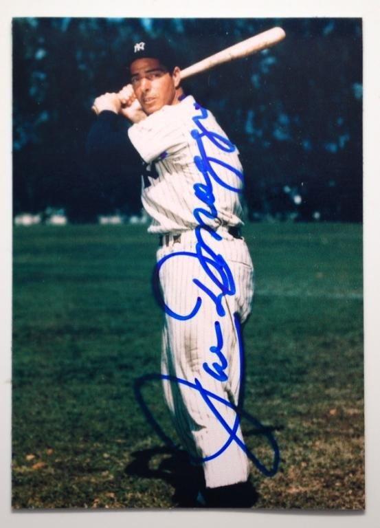 4: Joe Dimaggio signed Photograph