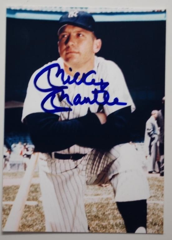 5: Mickey Mantle Signed Photograph