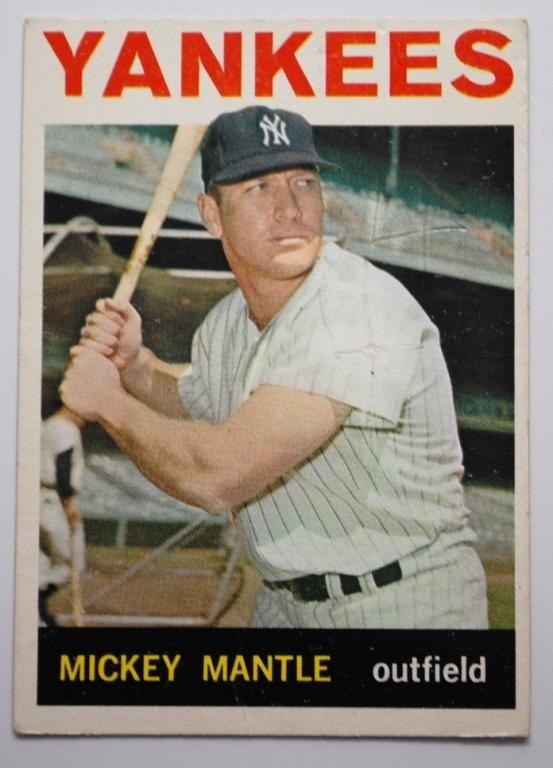 14: 1964 Topps Mickey Mantle Baseball Card #50
