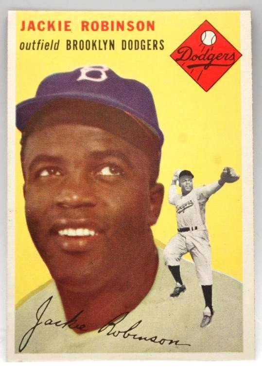 20: 1954 Jackie Robinson Topps Baseball Card #10