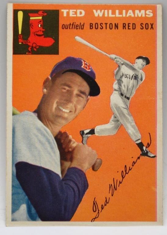 21: 1954 Ted Williams Topps Baseball Card #1