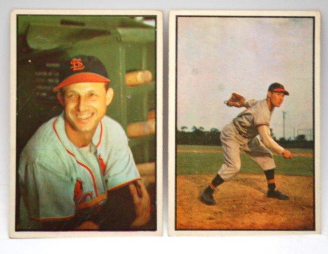 23: 1953 Feller & Musial Bowman Baseball Cards