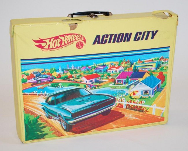 96: 1968 Hot Wheels Action City Playset-Complete
