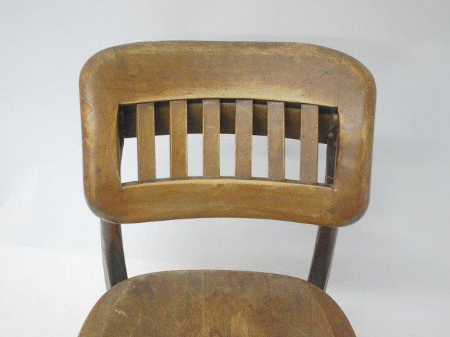382: Vintage Wood Swivel Desk Chair - 2
