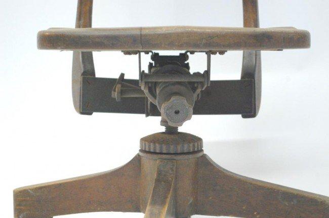 382: Vintage Wood Swivel Desk Chair - 4