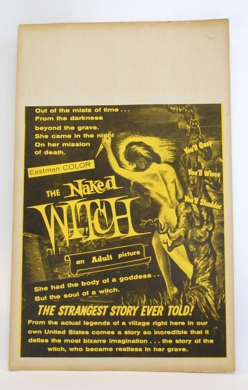 8: The Naked Witch  Movie Window Card