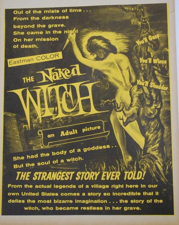 8: The Naked Witch  Movie Window Card - 2