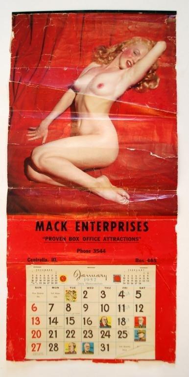 26 1957 Marilyn Monroe Calendar Mack Enterprises