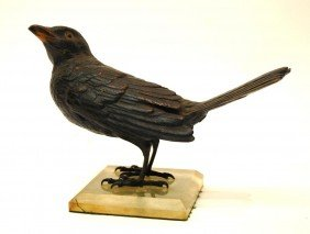 1: Austrian Bronze Bird Figure