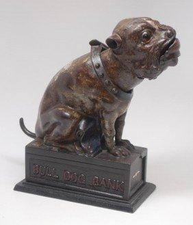 4: Bulldog Cast Iron Mechanical Bank
