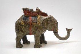 12: Hubley Howdah Elephant Cast Iron Mechanical Bank