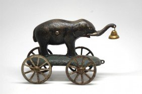 18: Cast Iron Elephant Bell Toy