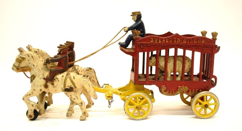 23: Kenton Overland Circus Cast Iron Toy Wagon