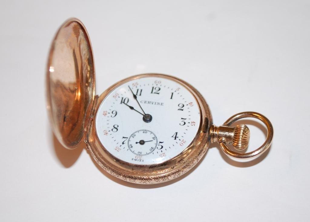 38: Cervine Pocket Watch 14K Gold Hunter Case