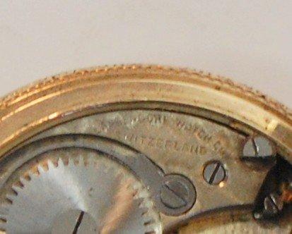 38: Cervine Pocket Watch 14K Gold Hunter Case - 8