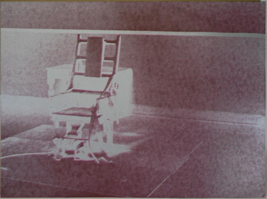 13: Andy Warhol Electric Chair , Signed Artist Proof