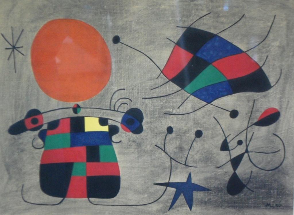 14: Joan Miro signed Ltd. Edition Lithograph Rare