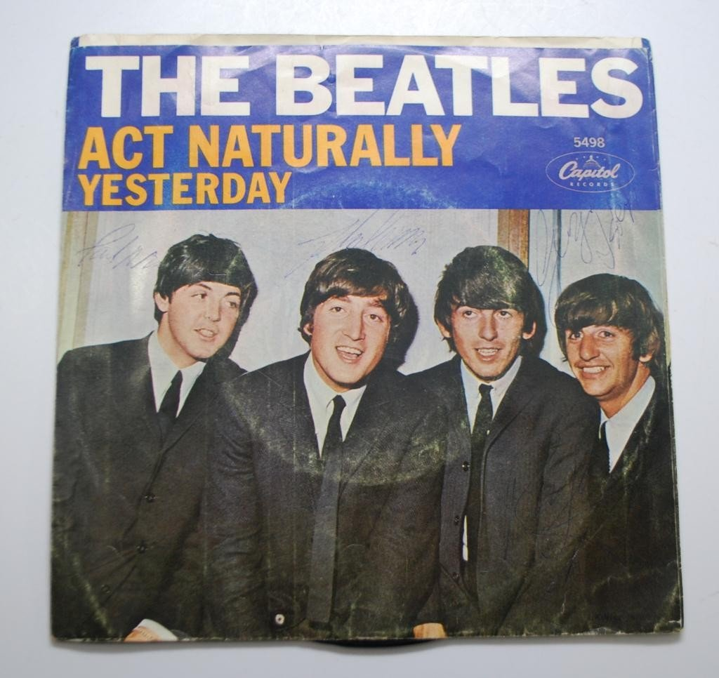 3: Beatles Autographed Record