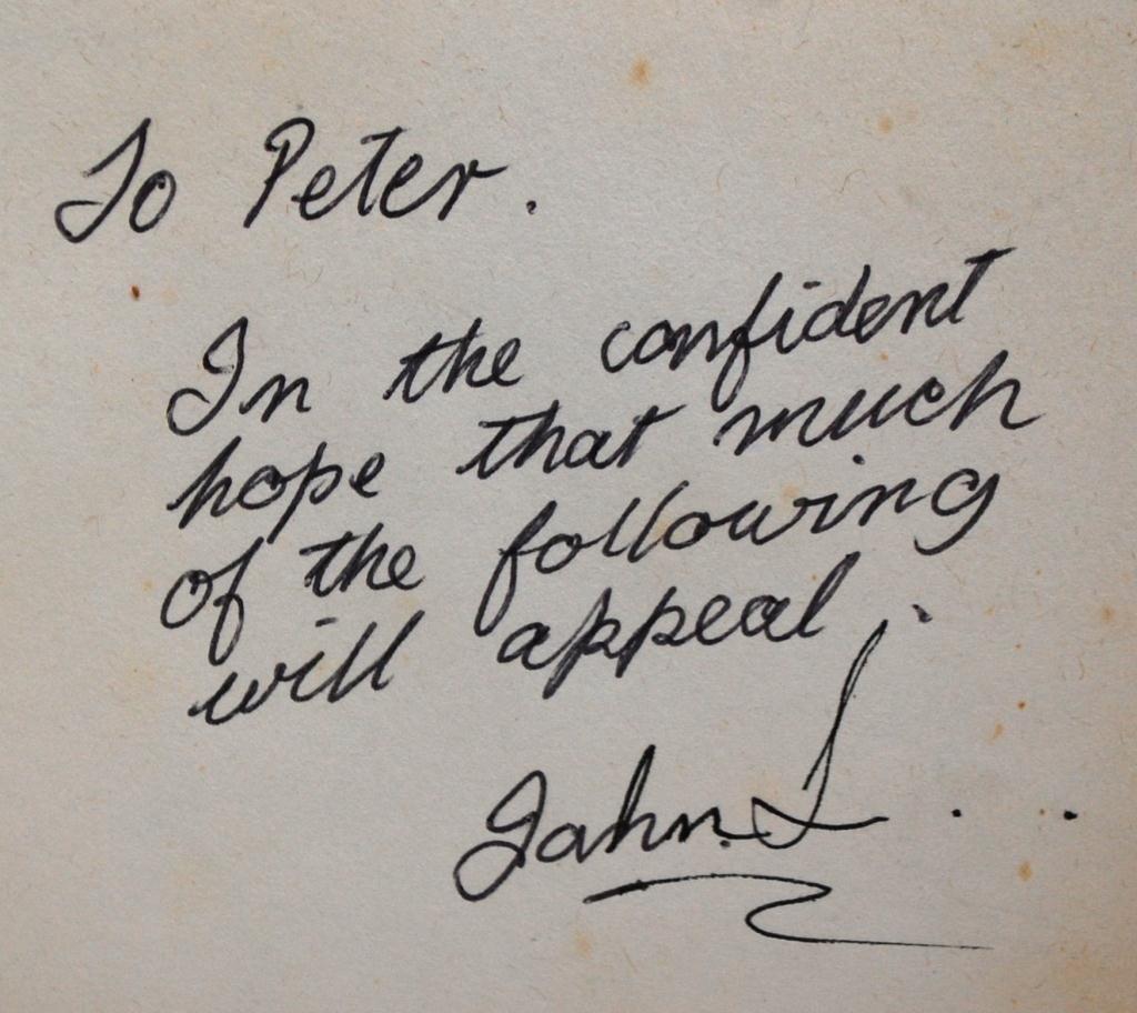5: John Lennon Inscribed Book to Peter Shotton