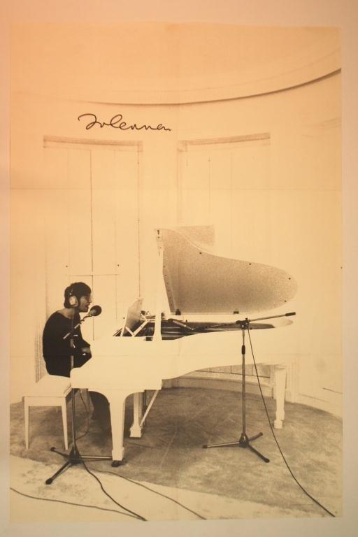 6: John Lennon Autographed Imagine Poster