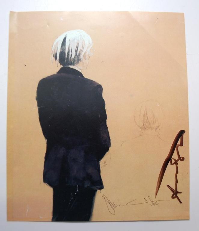 12: Andy Warhol &  Jamie Wyeth autographs