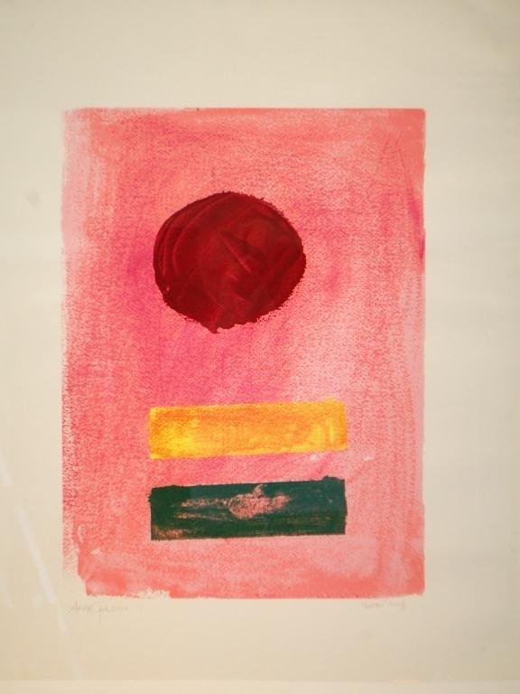 """14A: Adolf Gottlieb-Printer's Proof """"Pink Ground"""""""