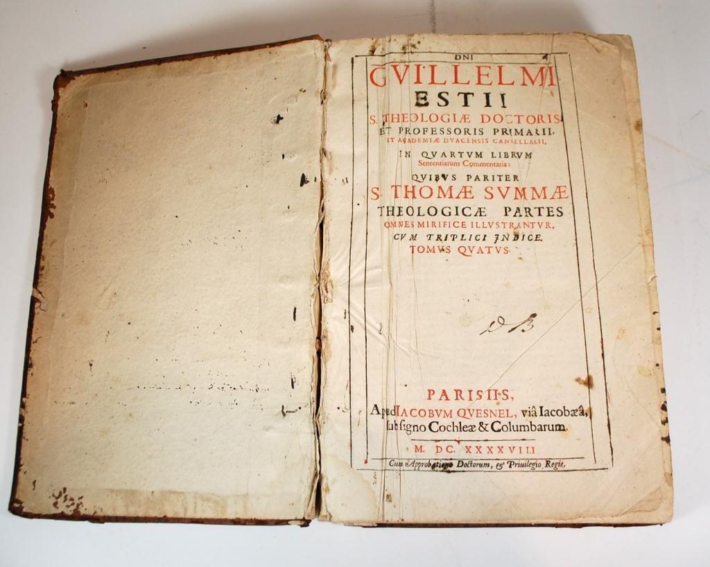 92A: 1648 -Dni Guillelmi Estii, S. theologiae