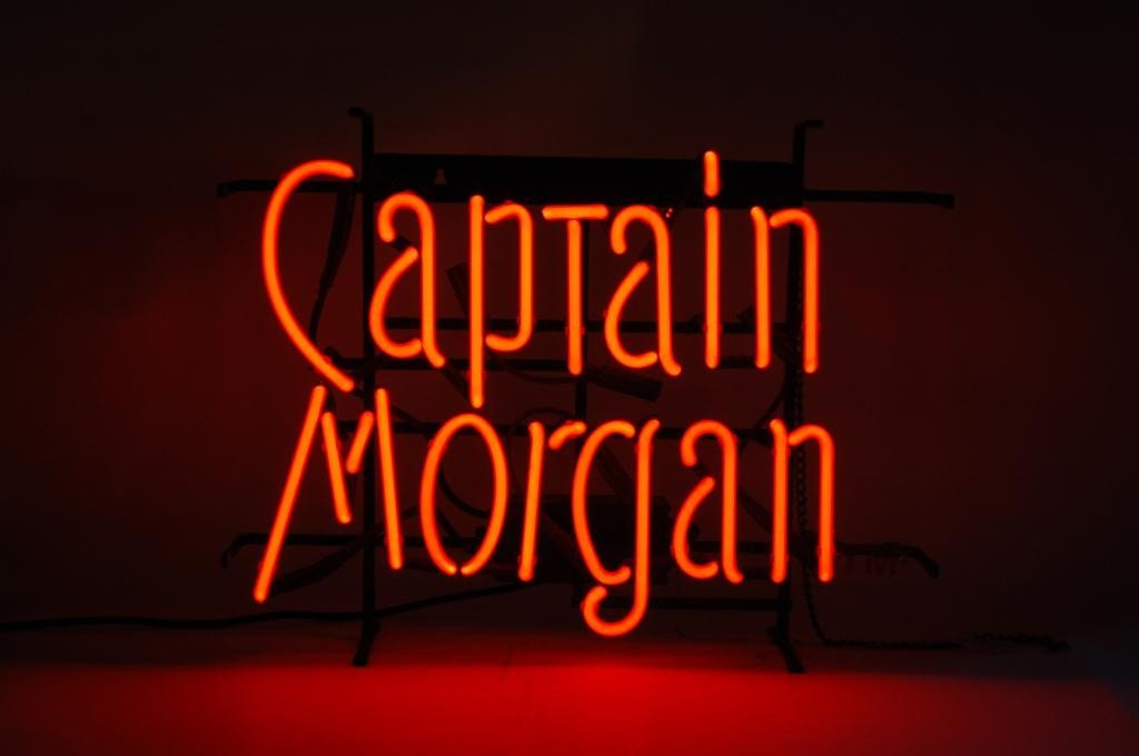 392: Captain Morgan Neon Sign