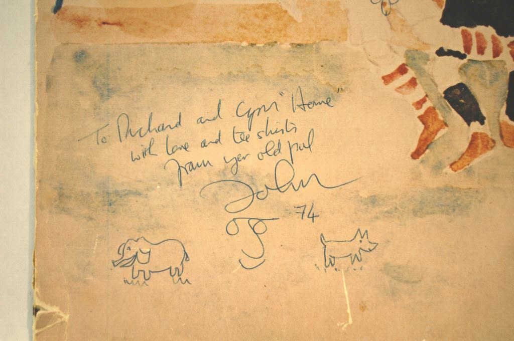 5: John Lennon Inscribed Album with Drawings