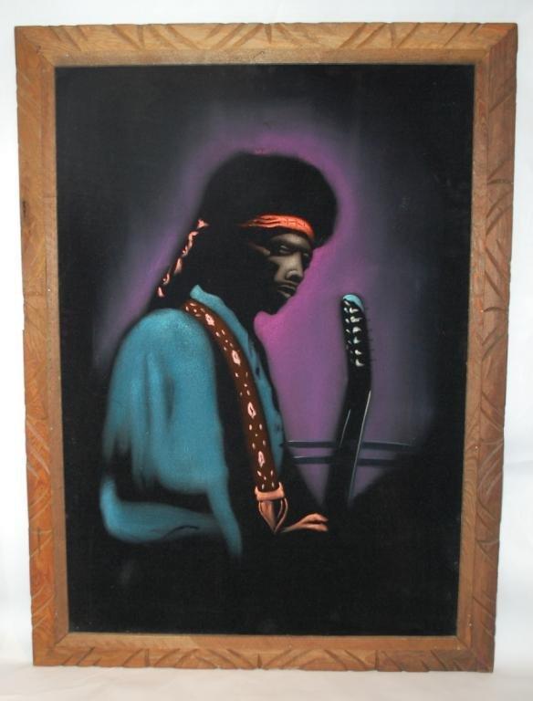 10: Jimmy Hendrix Velvet Poster-Early 1970s