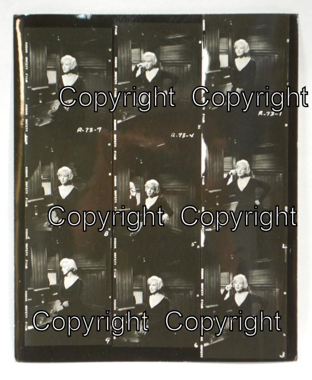 17: Marilyn Monroe Some Like It Hot Contact Sheet