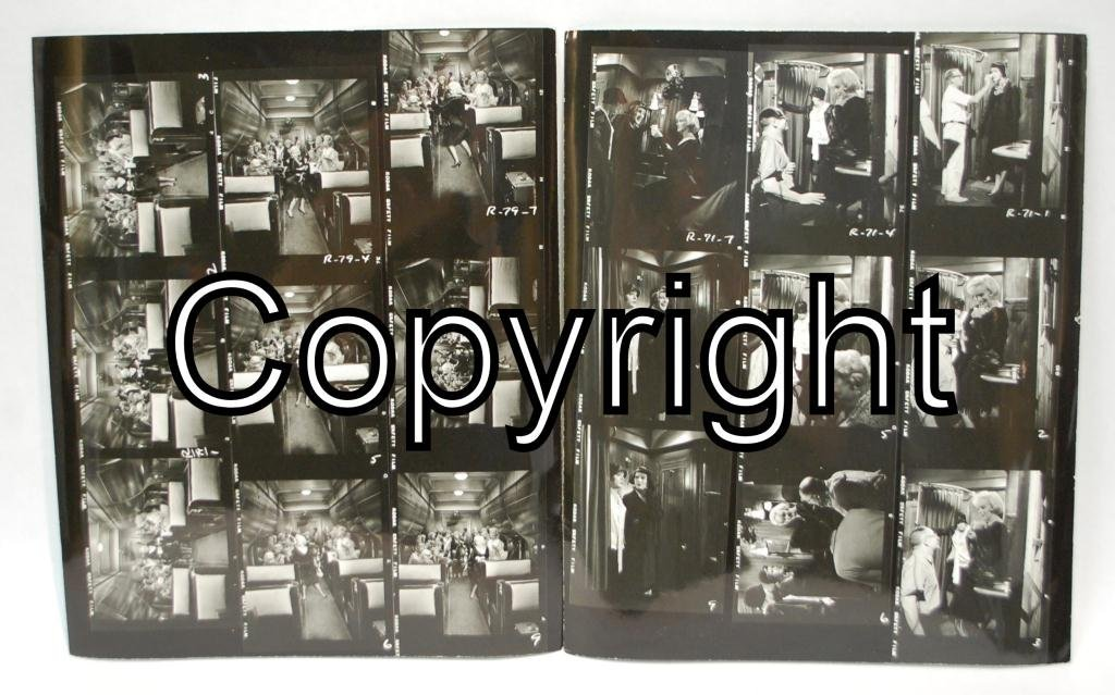 23: 2 Marilyn Monroe Some Like It Hot Contact Sheets