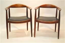 """Pair Hans Wegner Danish """"The Chair""""  Chairs"""