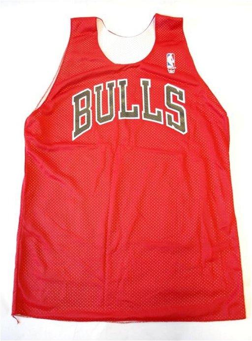 pretty nice 3eeec ed3b5 6: Michael Jordan Worn Chicago Bulls Practice Jersey
