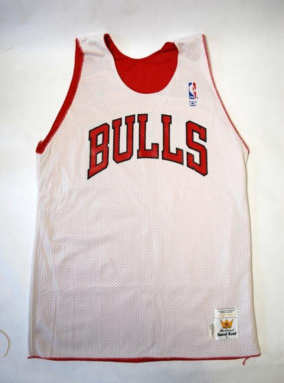 6: Michael Jordan Worn Chicago Bulls Practice Jersey - 2