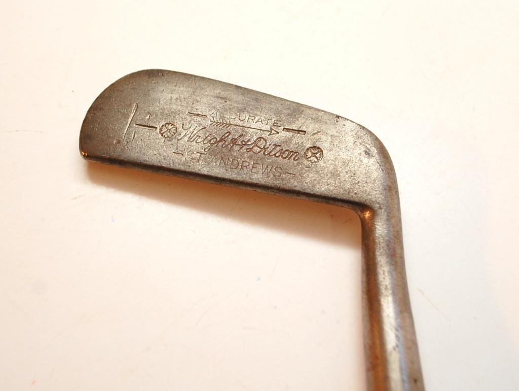 1083: Wright  & Ditson St. Andrews Blade Putter - 4