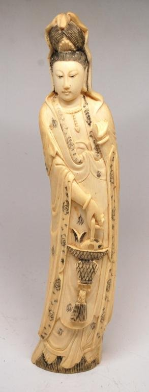 60: Chinese Carved Ivory Tusk Figure