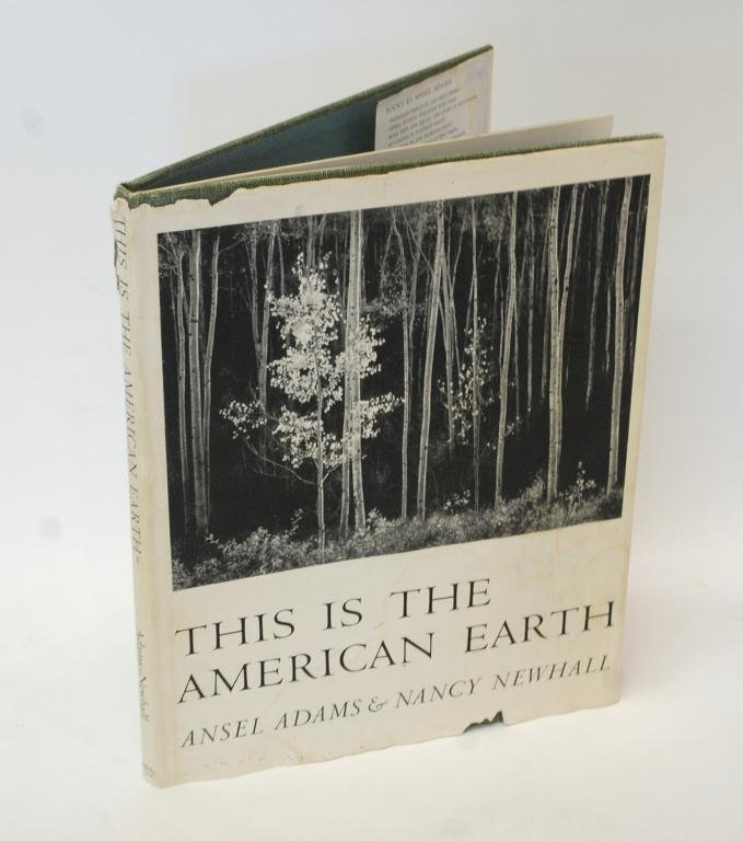 """2: Ansel Adams Autographed """"This is the American Eart"""