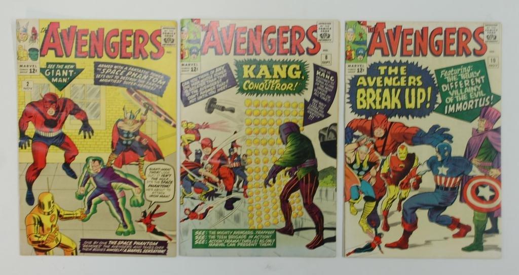 5:The Avengers 3 Comic Books, #2, #8, #10