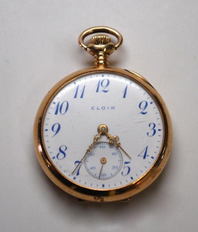 99: 14k Gold Elgin Pocket Watch