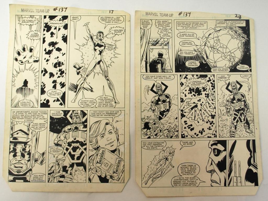12: Original Art, Marvel Team-Up #137 Comic