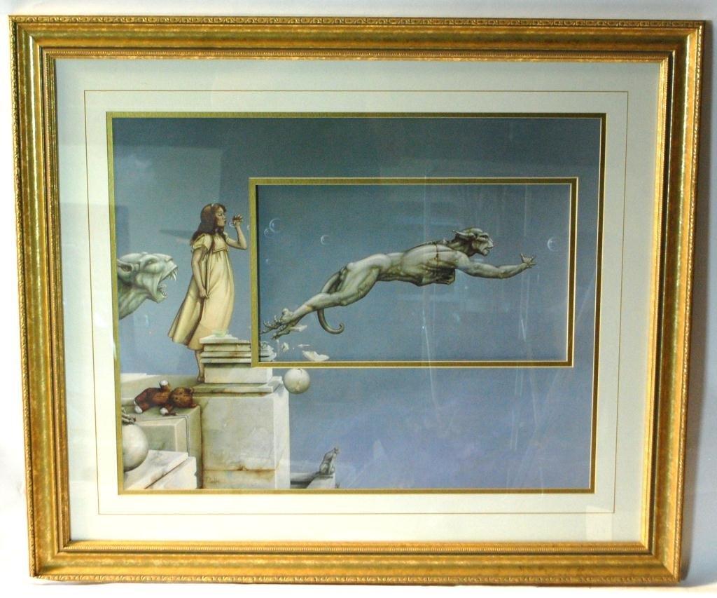 "292B: Michael Parkes Lithograph ""Gargoyles"""